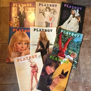 1968 Playboy Magazines in great shape lot of 8